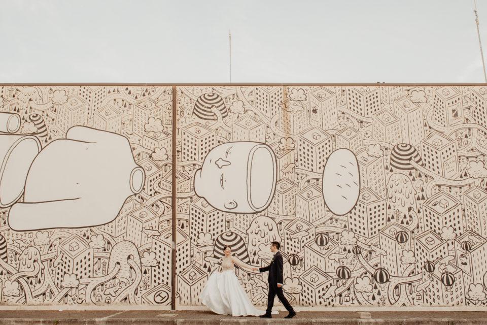 Matrimonio a Fondi - Wedding wonderland paola simonelli - servizio fotografico memorie urbane street art festival