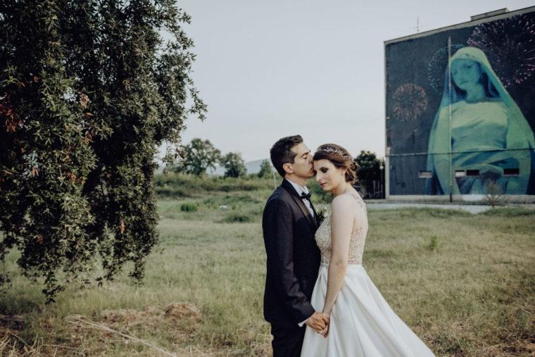 Fotografo matrimonio a Fondi - urban wedding inspiration - memorie urbane street art festival - fotografo matrimonio lazio - matrimonio in città